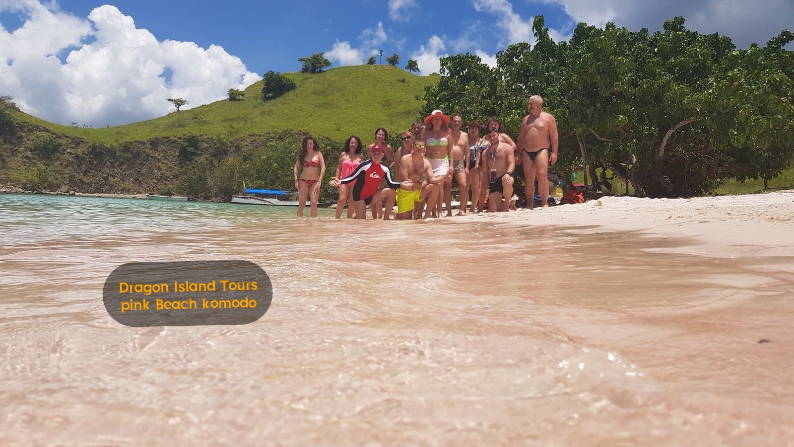 Our Tour Group at Pink Beach